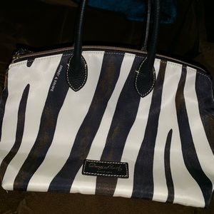 Zebra print Dooney and Bourke